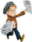 Vendendo jornais